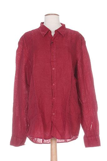 louis plein chemises femme de couleur rouge