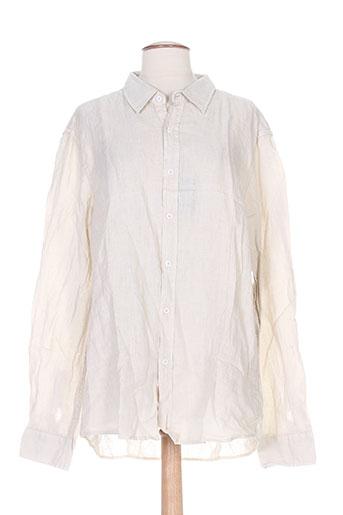 louis plein chemises femme de couleur beige