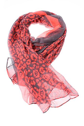 inel foulards femme de couleur rouge