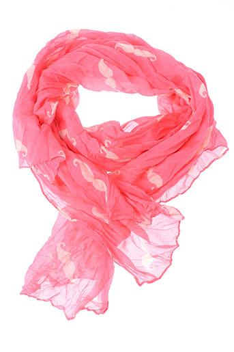 Foulard rose INEL pour femme