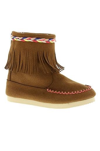 billieblush chaussures fille de couleur marron