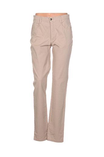waltron pantalons et decontractes femme de couleur beige