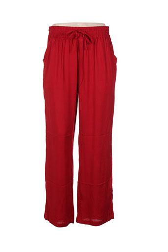 missing johnny pantalons femme de couleur rouge