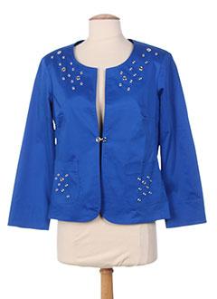 Veste casual bleu DIVAS pour femme