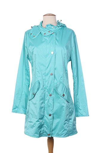 guxy manteaux femme de couleur bleu
