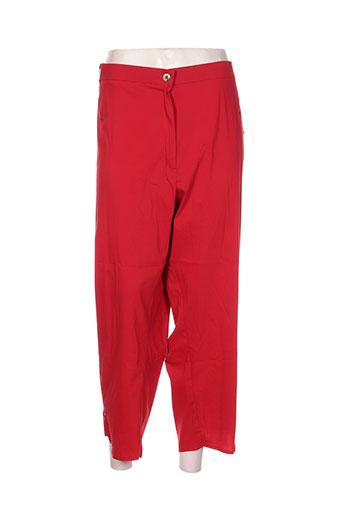 jean gabriel pantacourts femme de couleur rouge