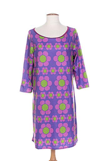 Robe courte violet DOROTHEE OSSART pour femme