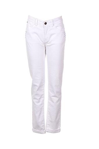 ikks jeans femme de couleur blanc