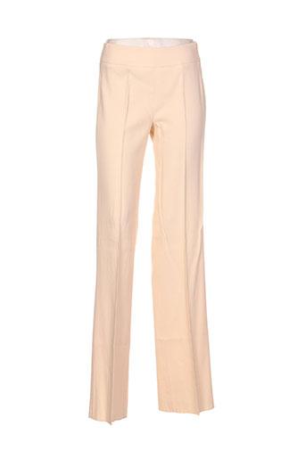 maxmara pantalons femme de couleur jaune