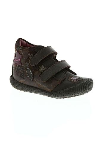 chipie chaussures fille de couleur marron