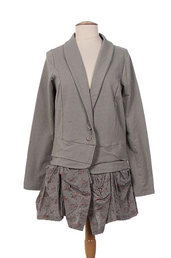 rhum raisin vestes femme de couleur gris