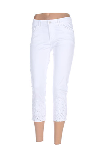 onado pantacourts femme de couleur blanc