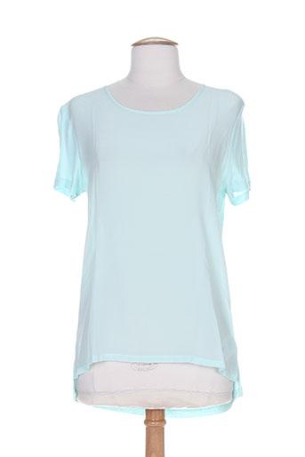 T-shirt manches courtes bleu CYRILLUS pour femme