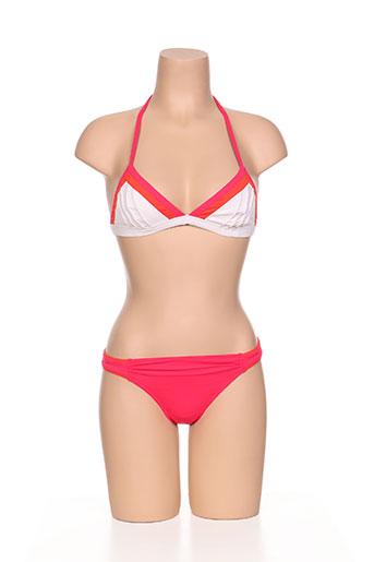 d nu d maillots de bain femme de couleur rouge