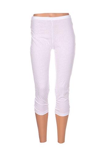 maloka pantalons femme de couleur blanc