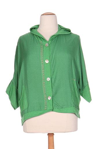 batistame vestes femme de couleur vert