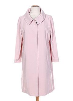 Manteau long rose PIU PIU pour femme