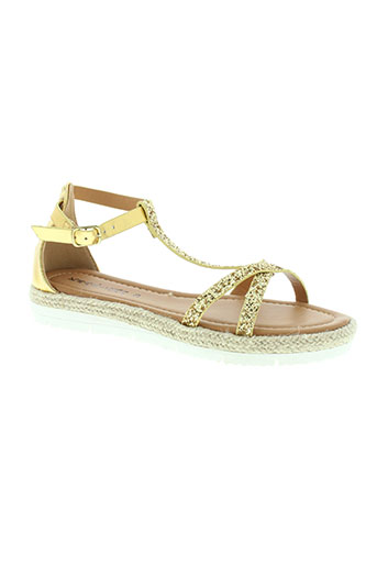 kharisma sandales et nu et pieds femme de couleur jaune