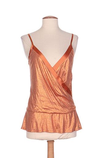 atos lombardini chemises femme de couleur orange