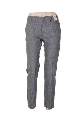 reiko pantalons femme de couleur gris