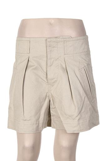 isabel marant shorts / bermudas femme de couleur beige