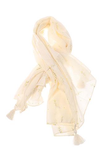 des et petits et hauts foulards femme de couleur beige