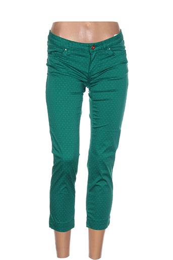 lcdn pantacourts femme de couleur vert