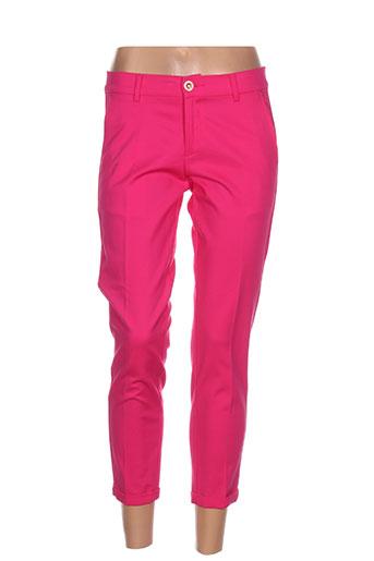 lcdn pantacourts femme de couleur rose