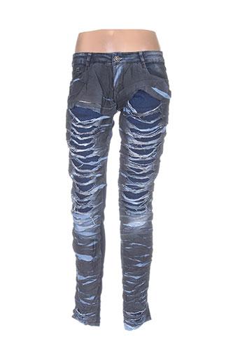 lexxury jeans femme de couleur bleu