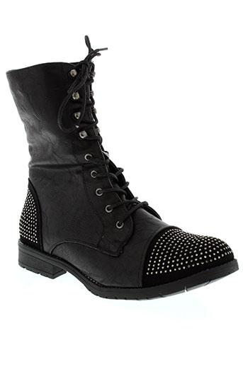 coco et perla boots femme de couleur noir