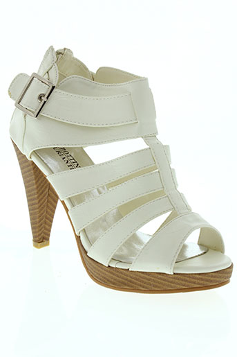 High Heel Sandal, Sandales Bout Ouvert Femme - Beige - Beige (Beige 130), 39 1/3Marc O'Polo