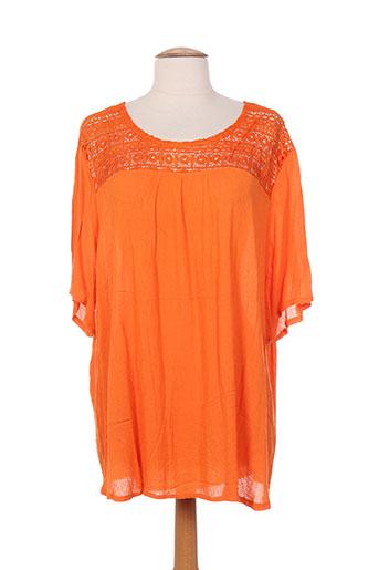 noogat tuniques femme de couleur orange