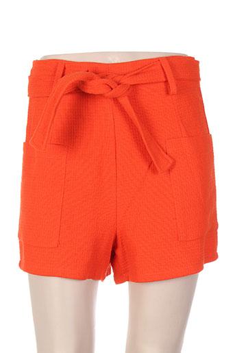 callisto shorts / bermudas femme de couleur orange