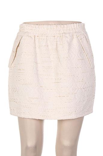 Jupe courte beige COLOR BLOCK pour femme