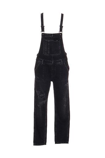 pepe jeans combinaisons fille de couleur noir