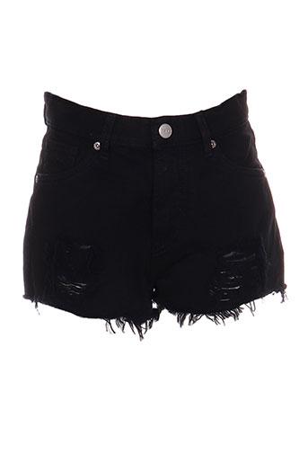 pepe jeans shorts / bermudas fille de couleur noir
