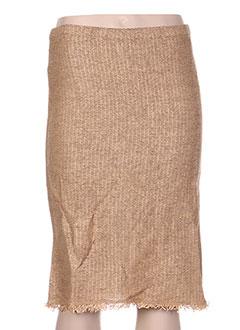 Jupe mi-longue beige DIKTON'S pour femme