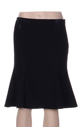 Jupe mi-longue bleu AMUN pour femme