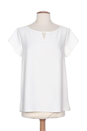 rouge et bleu t-shirts / tops femme de couleur blanc