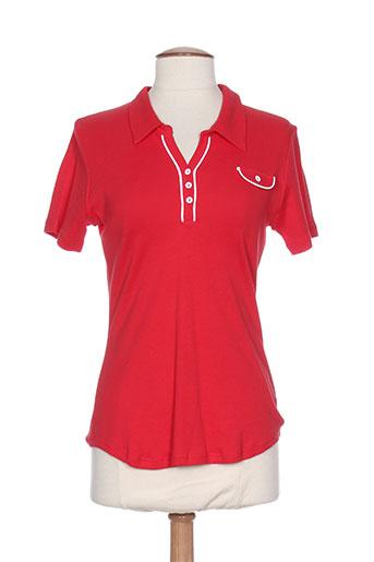 rouge et bleu t-shirts / tops femme de couleur rouge