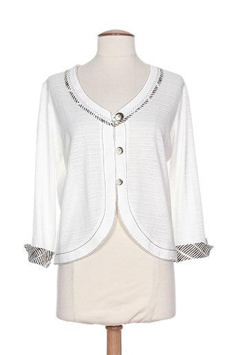 france rivoire vestes femme de couleur blanc