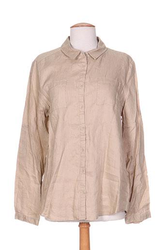 burton chemises femme de couleur beige