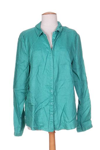 burton chemises femme de couleur vert