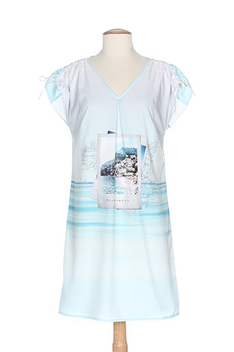 rose electron robes femme de couleur bleu