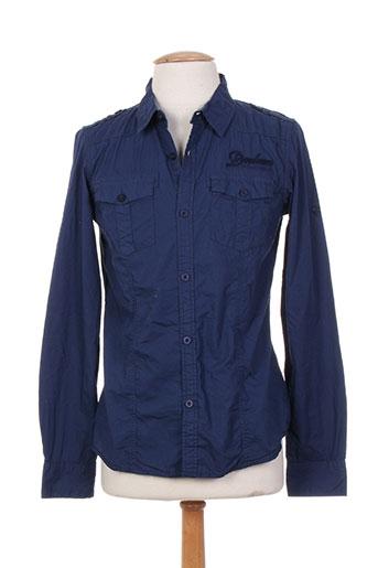 deeluxe chemises garçon de couleur bleu