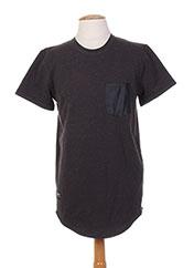 T-shirt manches courtes gris TWO ANGLE pour homme seconde vue
