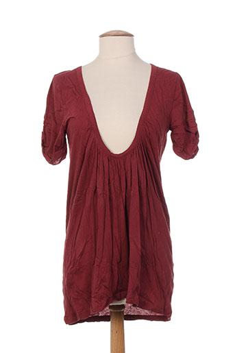 mariona gen chemises femme de couleur rouge