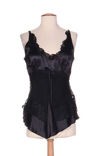 chadia chemises femme de couleur noir