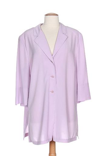 jean claire vestes femme de couleur violet