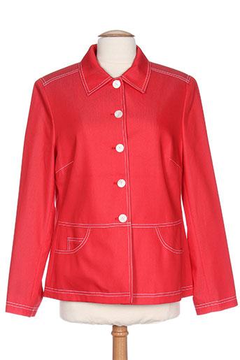 Veste casual rouge LUCIA pour femme